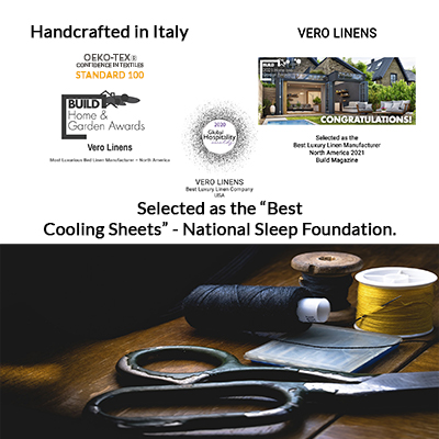 Vero Linens - awarded most luxurious linen mfg - north america