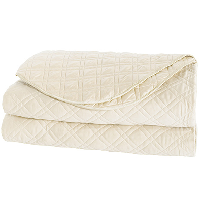 Quilted Coverlet - available in white, ivory sable, in king & queen size