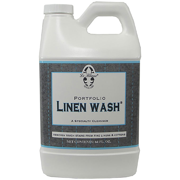 Leblanc Linen wash iis formulated for cotton fabrics