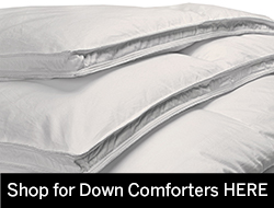 Baffle Box Down Comforters available in king & queen