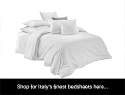 Cotton bed sheets from Italy.