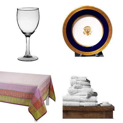 Stemware, table linens, bath towels, fine china & luxury bed linens are exceptional wedding gifts.