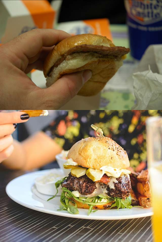 Slider vs Gourmet hamburger