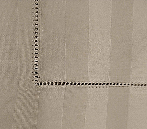 Hemstitched bed sheet