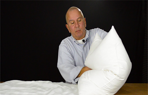 The easiest way to stuff a pillow sham