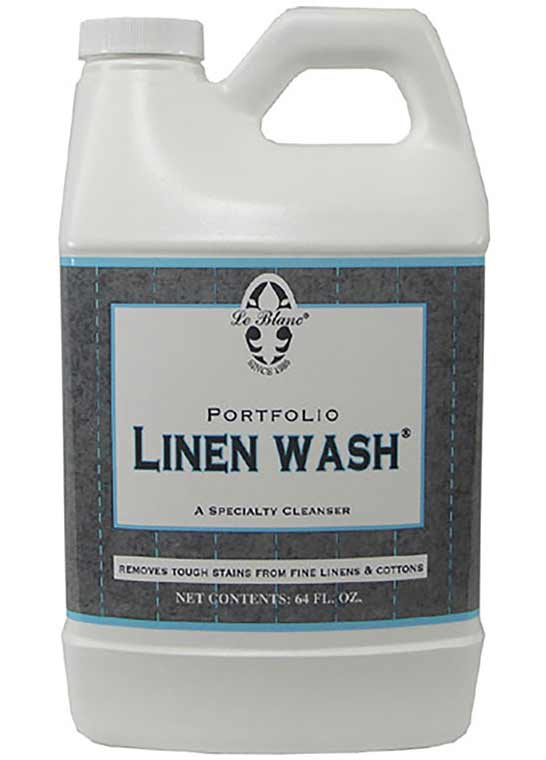 Leblanc Linen wash is formulated for cotton fabrics