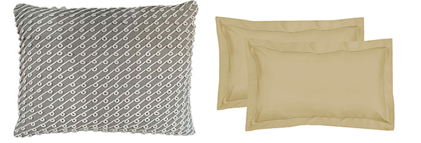 Flanged pillow sham vs. Pillow sham with corded edge