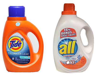 Most recognized laundry detergents contain bleach dirivates