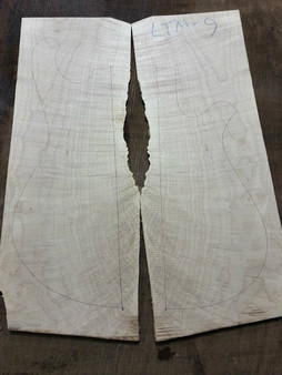 "LTM-9 Flamed Maple 8.75""x22.25""x.25"""
