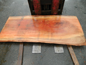"Red Eucalyptus Slab GWS-801 3¼""x36""-38""x83"" - wood slab"