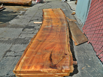 "Blonde Eucalyptus Slab GWS-818 3¼""x28""-33""x120"" - wood slab"