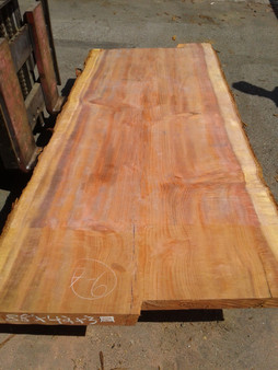 "Sequioa Redwood Slab (GWS-659) 3""x42""x88"""