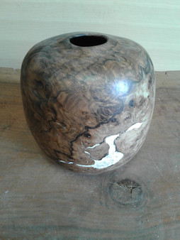 "Walnut Burl Hollow Form CH-9 (8""x8""x10"")"