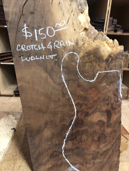 Walnut Crotch Figure Guitar Billet   CRO-WA-11