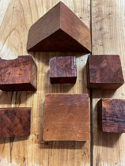 "Redwood Lace or Burl Box of ""Cutoffs/Trims""     RWFB-d"
