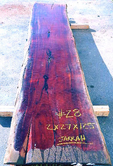 Jarrah Slab (#28) (2 x 27 x 125) - wood slab
