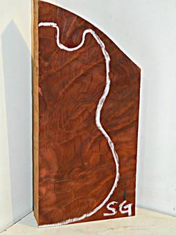 Curly Redwood Guitar Billet (RWB-I) 2 x 8¾ x 19