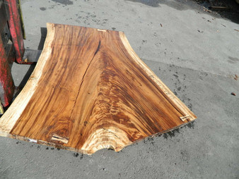 "Monkeypod Slab GWS-83 2½""x60""-37""x63"" - wood slab"