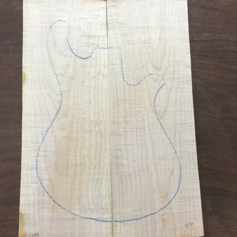 "Fiddleback Maple 8""x23.5""x1.75"""