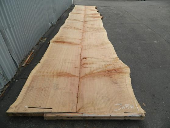 "Redwood Slab (JWRW-1) 3¼""x43""-63""x276"" - wood slab"