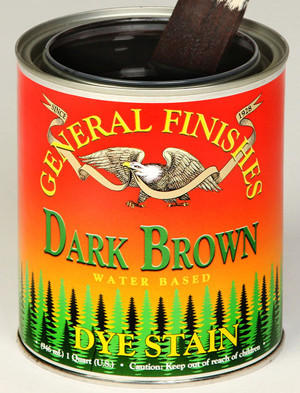 Water Based Dye Stain - Dark Brown