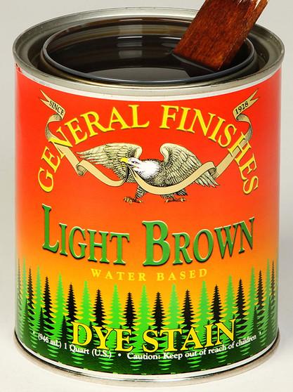 Water Based Dye Stain - Light Brown