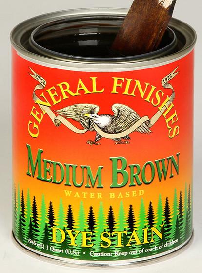 Water Based Dye Stain - Medium Brown