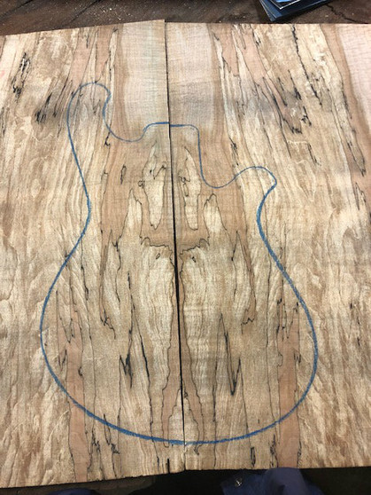 """WSM-1 Spalted Maple 13.5""""x25""""x.75"""""""