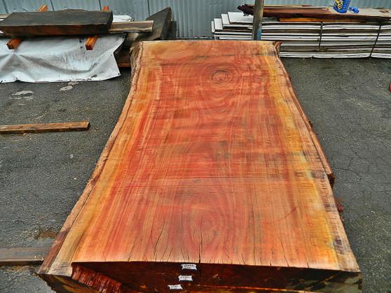 """Red Eucalyptus Slab GWS-803 3¼""""x40""""-47""""x83"""" - wood slab"""