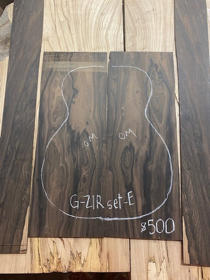 Guitar  S & B  in Ziricote   G-ZIRset-E