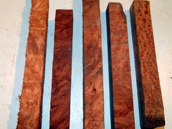 "Redwood Burl Pen Blanks (¾"" x ¾"" x 5"")"