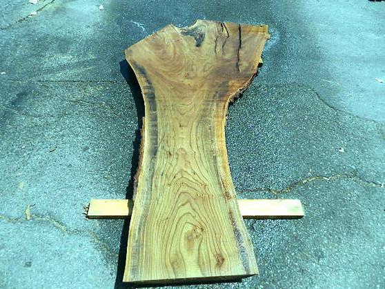 """Red Elm Slab (2½"""" x 22""""-43"""" x 88"""") - wood slab"""
