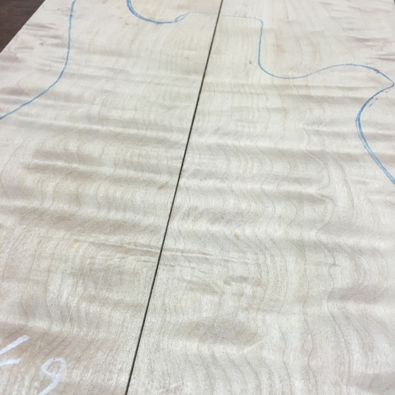 """Quilted Maple(07-QMB)6.75""""x24.5""""x2.25"""""""