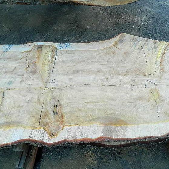 Deodara Cedar Slab DC-13 (3 x 40-42 x 111) - wood slab