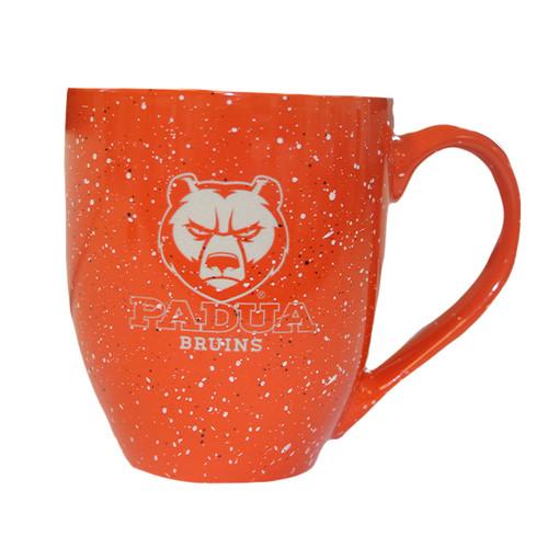 Laser Engraved Orange Speckle Mug