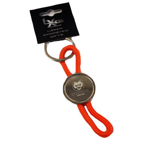 Bruins Orange Cord Keychain