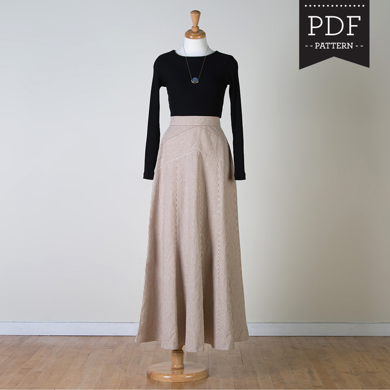 7906fe17dc52 Gabriola skirt sewing pattern by Sewaholic Patterns, gorgeous maxi ...