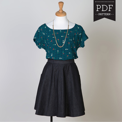 Instantly download PDF sewing patterns and start sewing