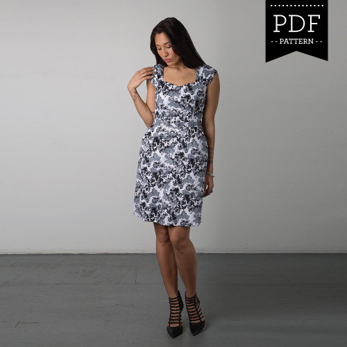90e5f7b8d86e3 Lonsdale Dress sewing pattern by Sewaholic Patterns with halter ...