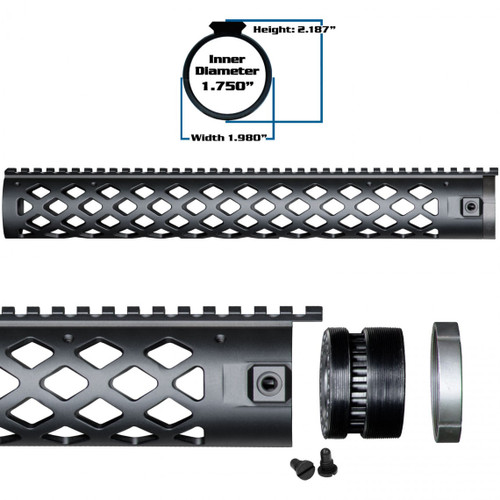 YHM Diamond Series Handguard Competition Length 15""
