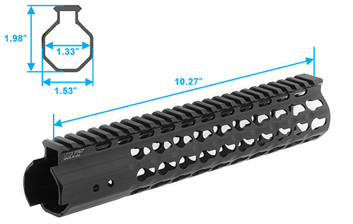 "UTG Pro Keymod Free Float Handguard - 10"""