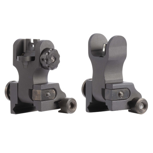AR-15 Tritium Flip-up Backup Iron Sights (BUIS) set