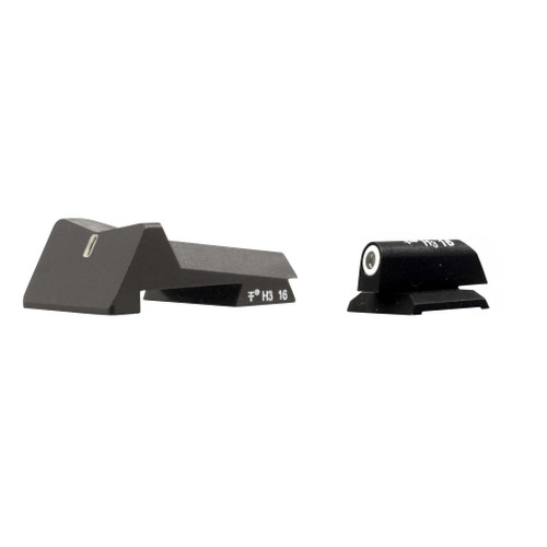 DXT Standard Dot Night Sights for Colt Competition Rear Commander round top