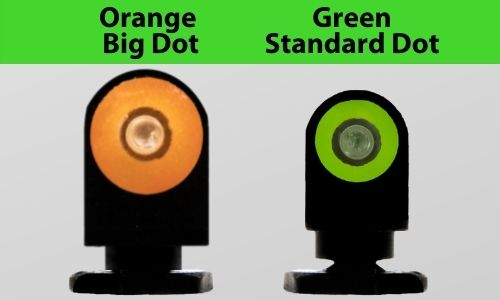 Big dot vs Standard dot