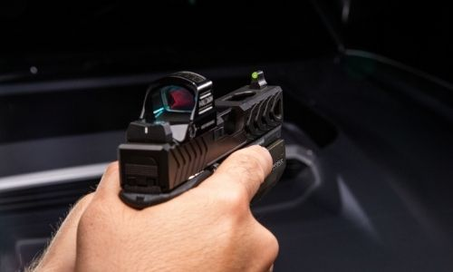 DXW2 Green Suppressor Height sights co witness with an Red dot