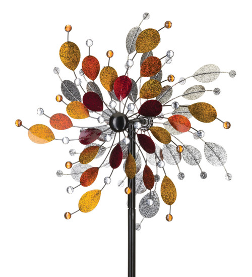"24"" Kinetic Garden Whirligig - Autumn Jeweled Metallic"