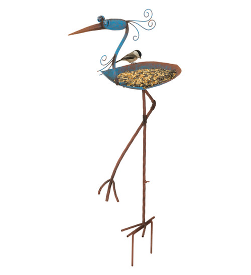 Blue Heron Bird Feeder Stake