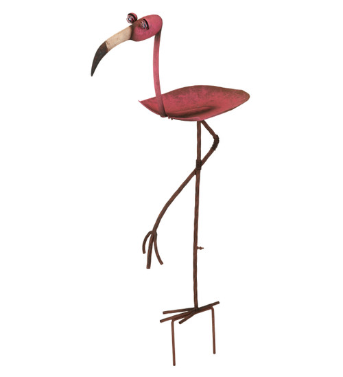 Pink Flamingo Bird Feeder Stake