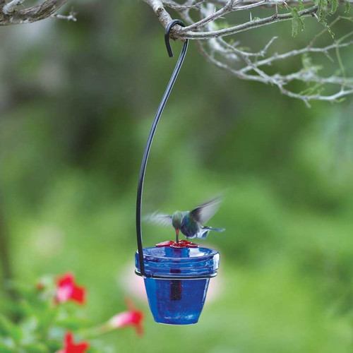 Flower Pot Hummingbird Feeder
