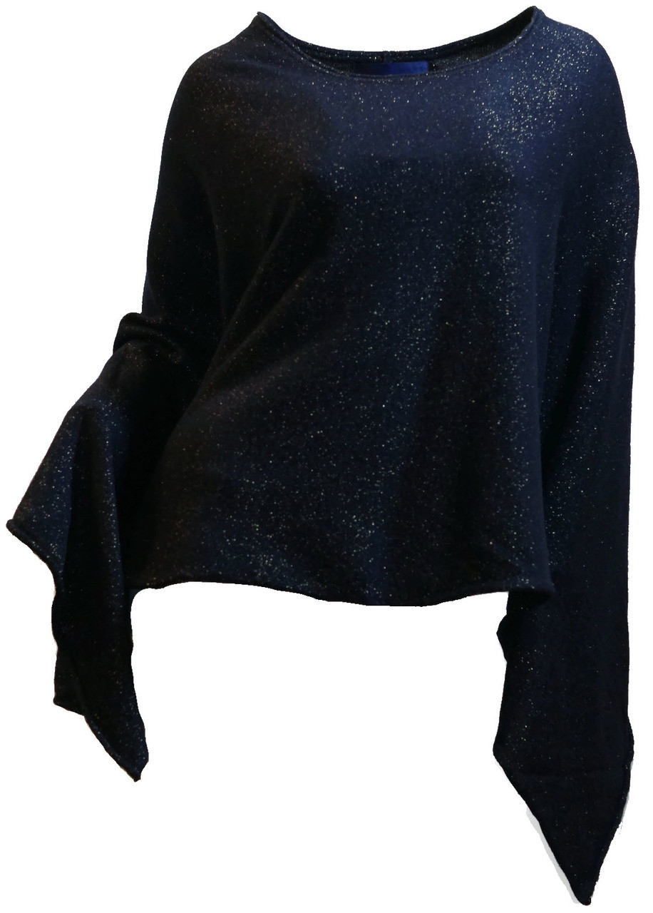 8aed5b5a3 Women's 100% Cashmere and Lurex Poncho Shawl for Cocktail, Evening, 2018  Holiday 2019 New Years Eve